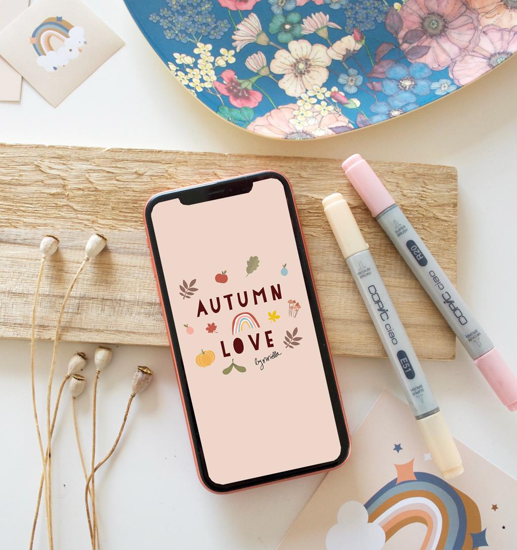 Herbstliches Wallpaper für dein Telefon