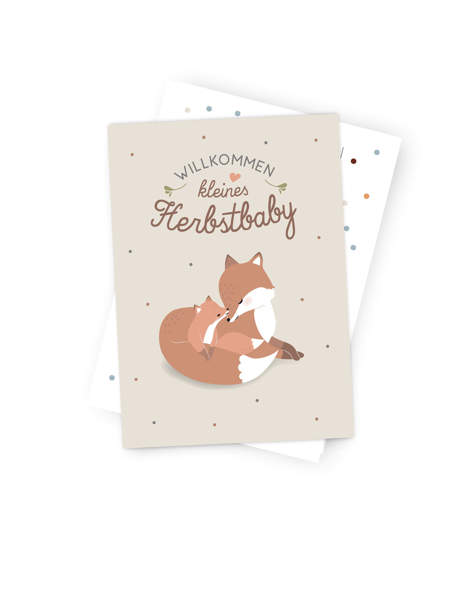 """Occasion Card """" Welcome Fall Baby"""""""