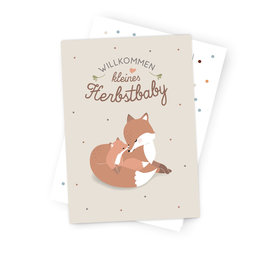"Occasion Card "" Welcome Fall Baby"""