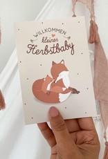 """Glückwunschkarte zur Geburt """"Hallo Herbstbaby"""""""