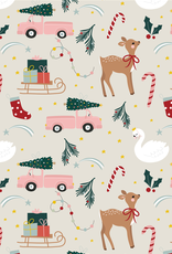 Wrapping paper-staying home for christmas