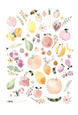 Sommermarkt Aquarell Illustration