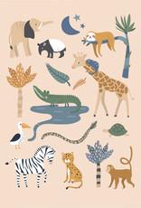 Poster im Dschungel