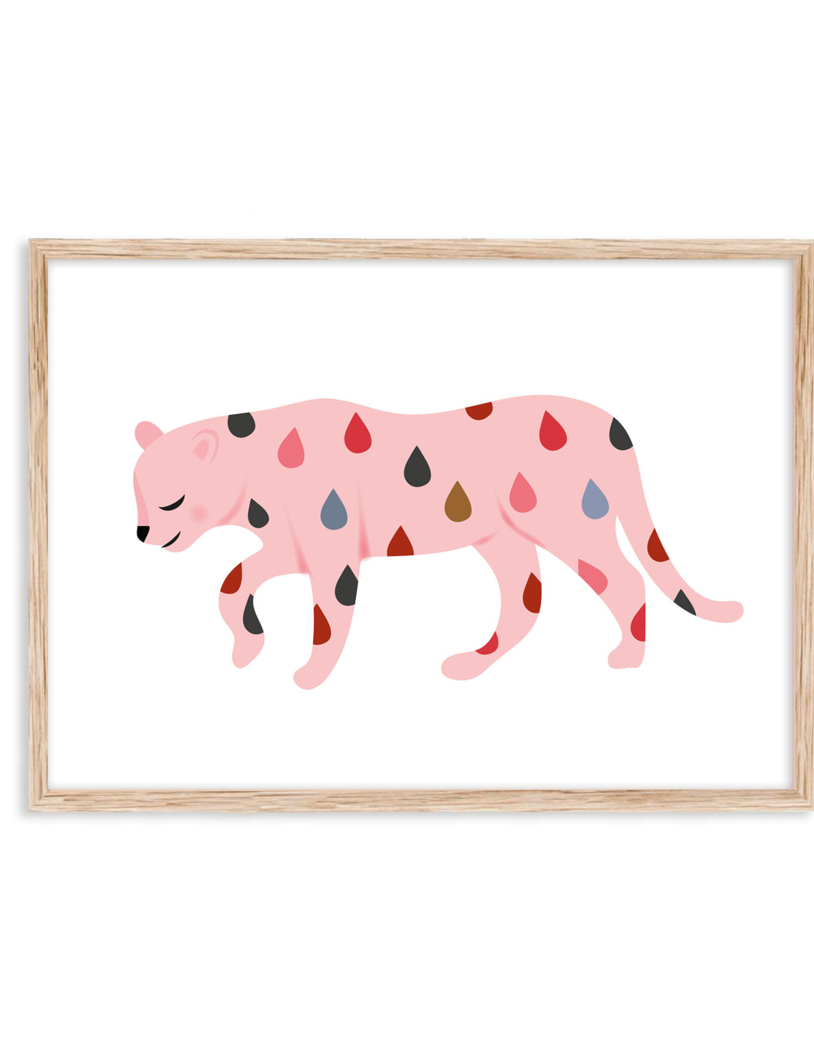 Poster Pink Leopard