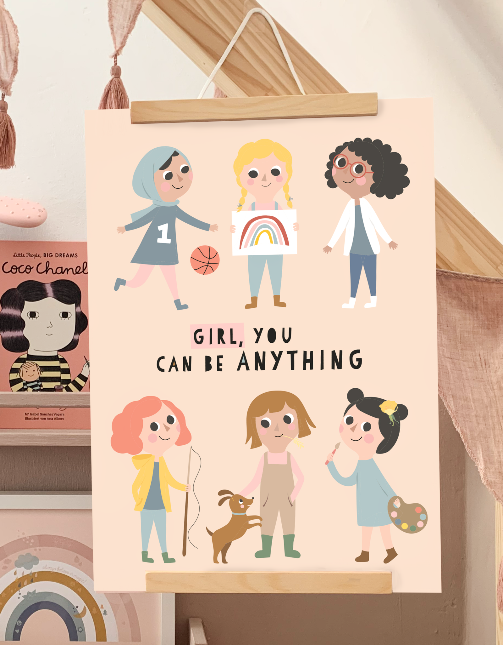 """Poster """"Girl, you can be anything"""""""