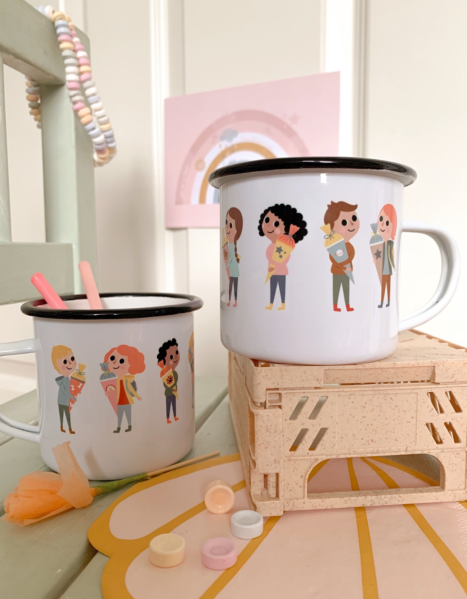 High quality emaille mug Beautiful Mama - Copy - Copy - Copy