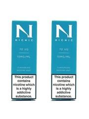 Nic Nic NicNic Nicotine Shot 70VG, 15mg & 18mg, Pack of 120