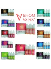 Venom Vapes Venom Vapes 3mg & 6mg 80/20 10ml E-liquid sold as a pack of 3