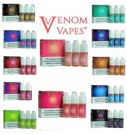 Venom Vapes Venom Vapes 3mg & 6mg 80/20 10ml E-liquid sold as a pack of 3