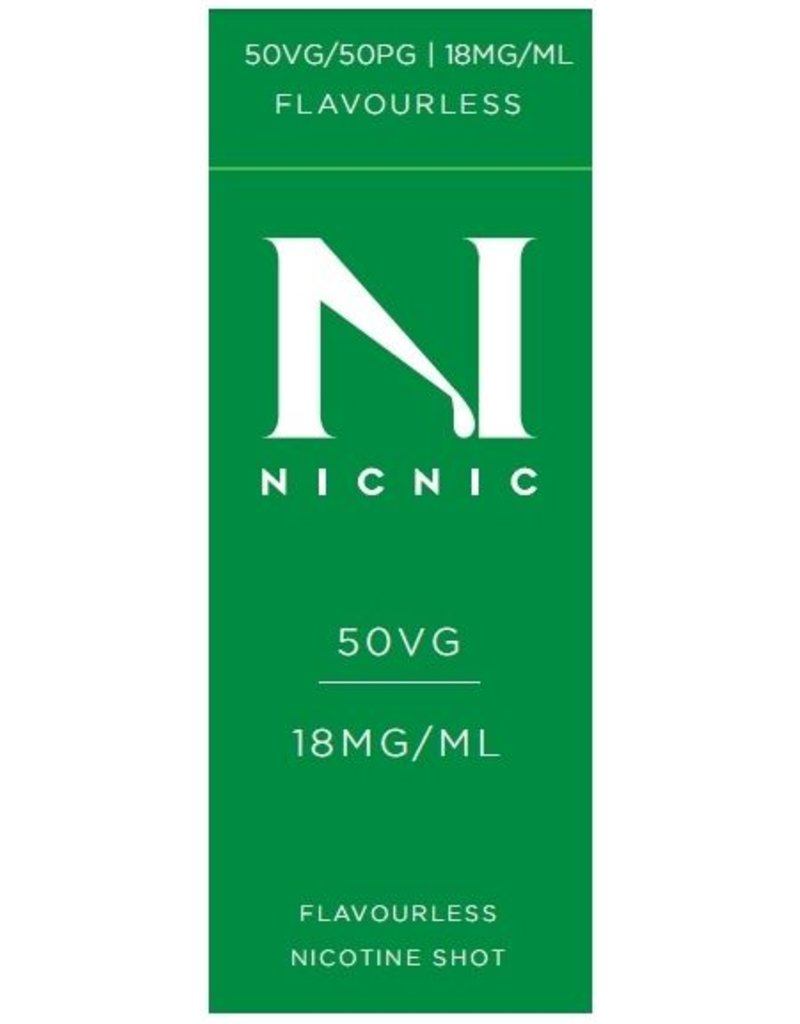 Nic Nic NicNic Nicotine Shot 50VG, 18mg sold as a pack of 120