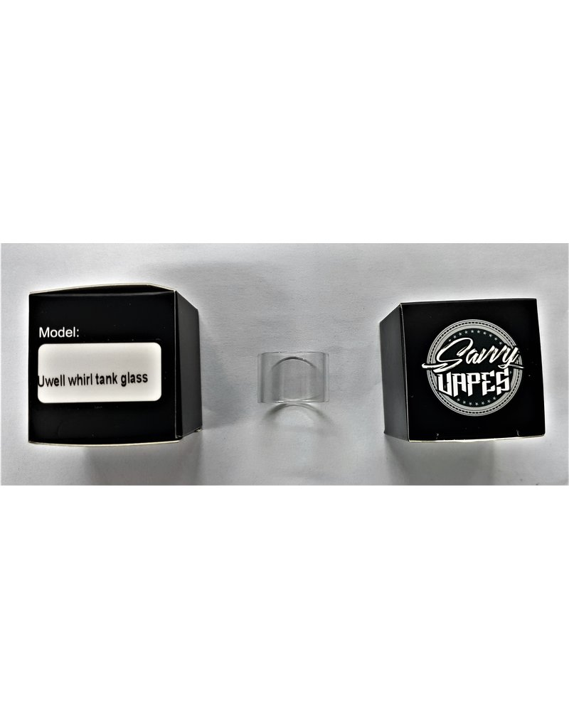 SAVVY VAPES  Savvy Vapes Uwell Whirl Tank Straight Glass sold as a pack of 10