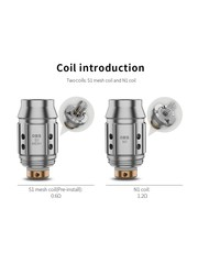 OBS OBS Cube Mini Replacement Cotton Coil, Pack of 5