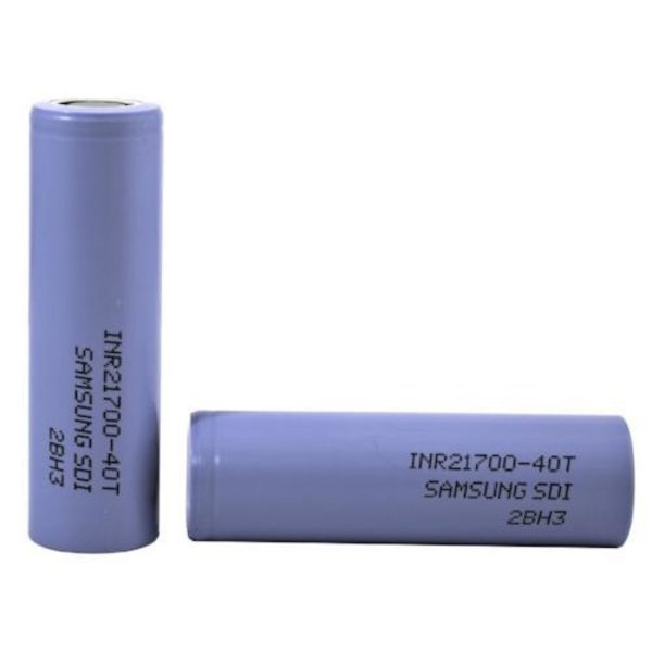 Samsung Samsung 40T, 21700 Battery 3950 mAH Sold as pack of 2