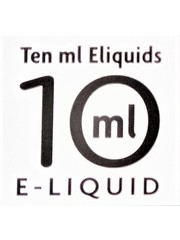 Ten Ml E-liquid Ten ml E-liquids 10ml with 6mg Nicotine, Box of 10
