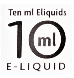 Ten Ml E-liquid Ten ml E-liquids 10ml with 6mg Nicotine, Box of 10