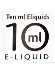 Ten Ml E-liquid Ten ml E-liquids 10ml with 11mg Nicotine, Box of 10