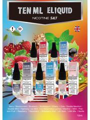 Ten Ml E-liquid Ten ML E-liquid Nicotine Salt 20mg