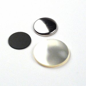 Flatback button onderdelensets 25mm (per 100 sets)