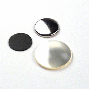 Pièces de bouton Flatback 25mm (per 100 sets)
