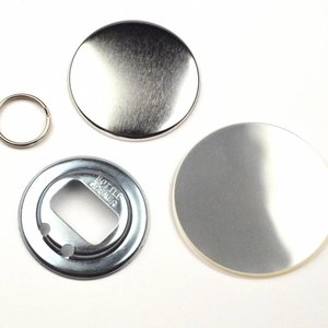 Bottle opener Button parts 56mm (per 100 sets)