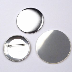 Button parts, pinned back, 56mm (par 100 sets)
