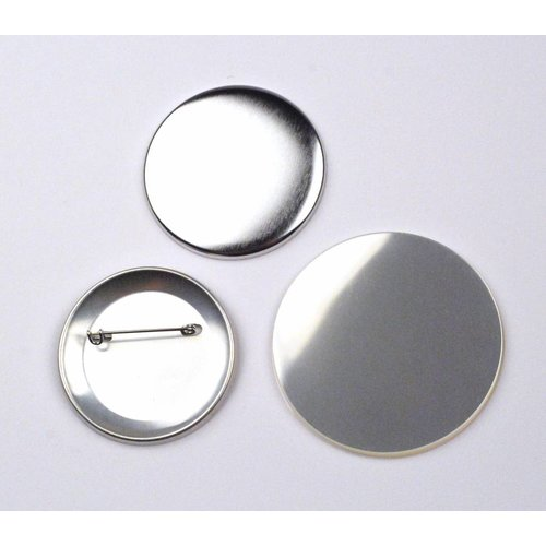 Button parts, pinned back, 56mm / per 100 sets