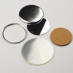 Spiegel Button Onderdelenset, 56mm (per 100 sets)