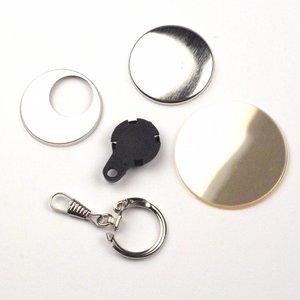 fournitures de badges pour porte-clés de 38mm (per 100 sets)