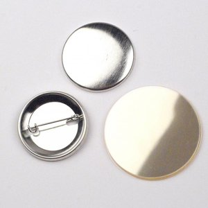 Button parts, pinned back, 38mm (1 1/2 inch)