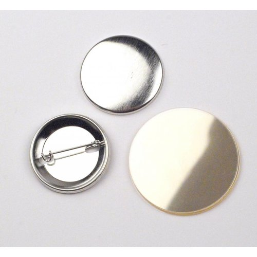 Button parts, pinned back, 38mm / 100 sets