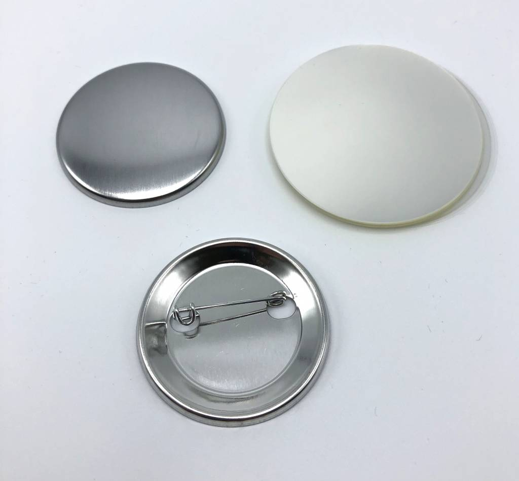 Button parts, pinned back, 44mm (1 3/4 inch)