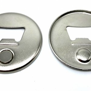 Magnetic Bottle Opener Button parts 56mm (per 100 sets)