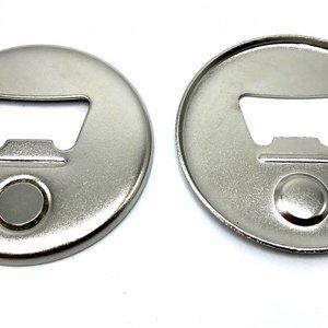 Magnetische Flessenopener Button Onderdelenset, 56mm (per 100 sets)