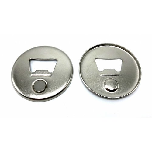 Magnetic Bottle Opener Button parts 56mm / 100 sets