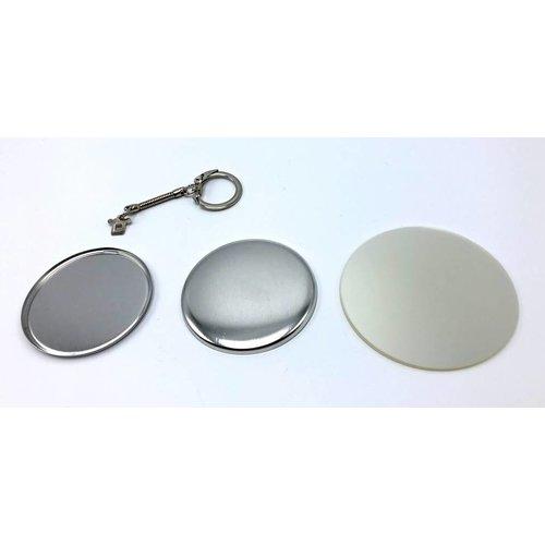 fournitures pour badges clés 56mm / 100 sets
