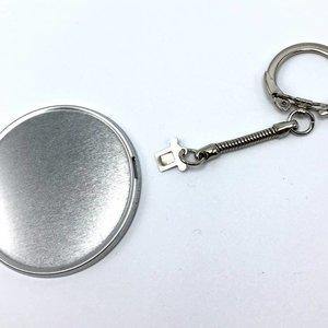 Sleutelhanger button onderdelensets 56mm (per 100 sets)