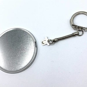 fournitures pour badges clé 44mm (par 100 sets)