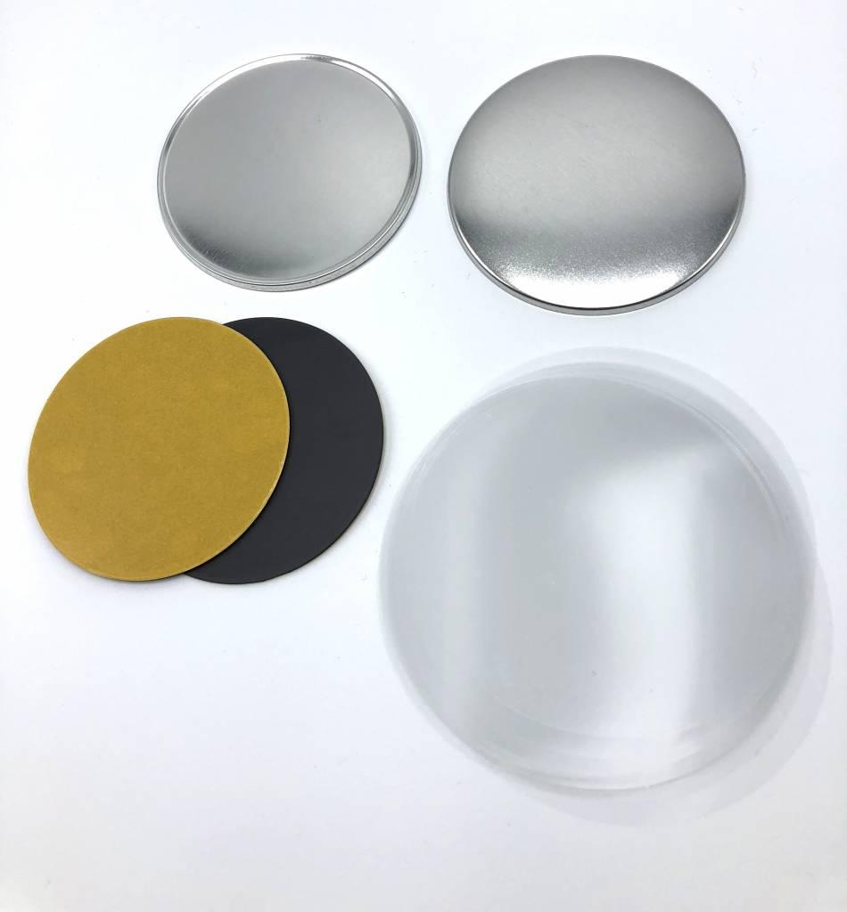 Magneetbutton onderdelensets 75mm (3 inch)