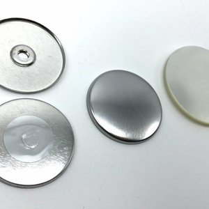 Magneetbutton onderdelensets 44mm (per 100 sets)
