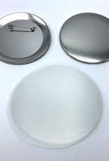 Button parts, pinned back, 75mm (3 inch)