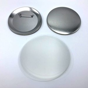 Button parts, pinned back, 75mm (per 100 sets)