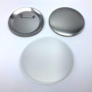 Pièces de boutons épinglés dans le dos, 75mm (per 100 sets)