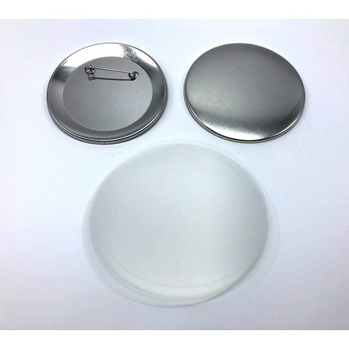 Button parts, pinned back, 75mm / 100 sets