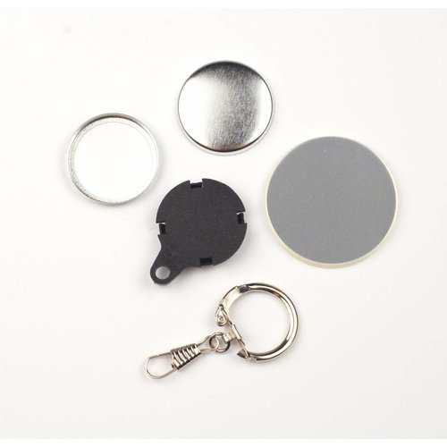Sleutelhanger button onderdelensets 32mm / 100 sets