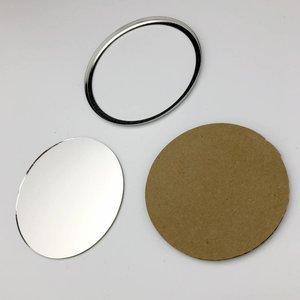 Pièces de bouton miroir 75mm (per 100 sets)
