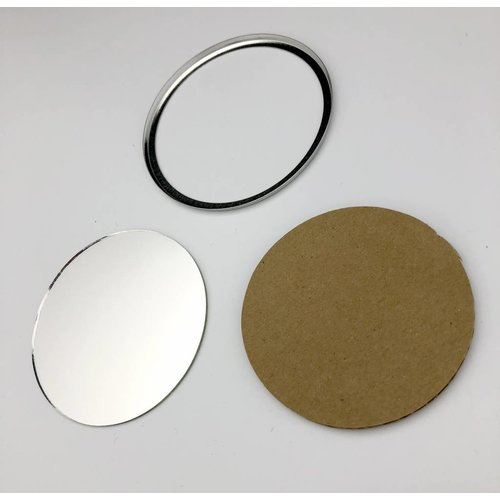fournitures de badges miroir 75mm / 100 sets