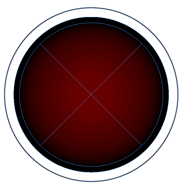 button printed visible area restriction