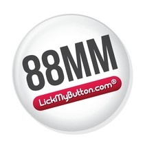 88mm ronde buttons - Metalen vlakke achterzijde + Kledingmagneet