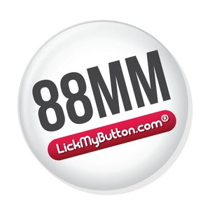 88mm round buttons - Metal Flat Back + Clothing Magnet