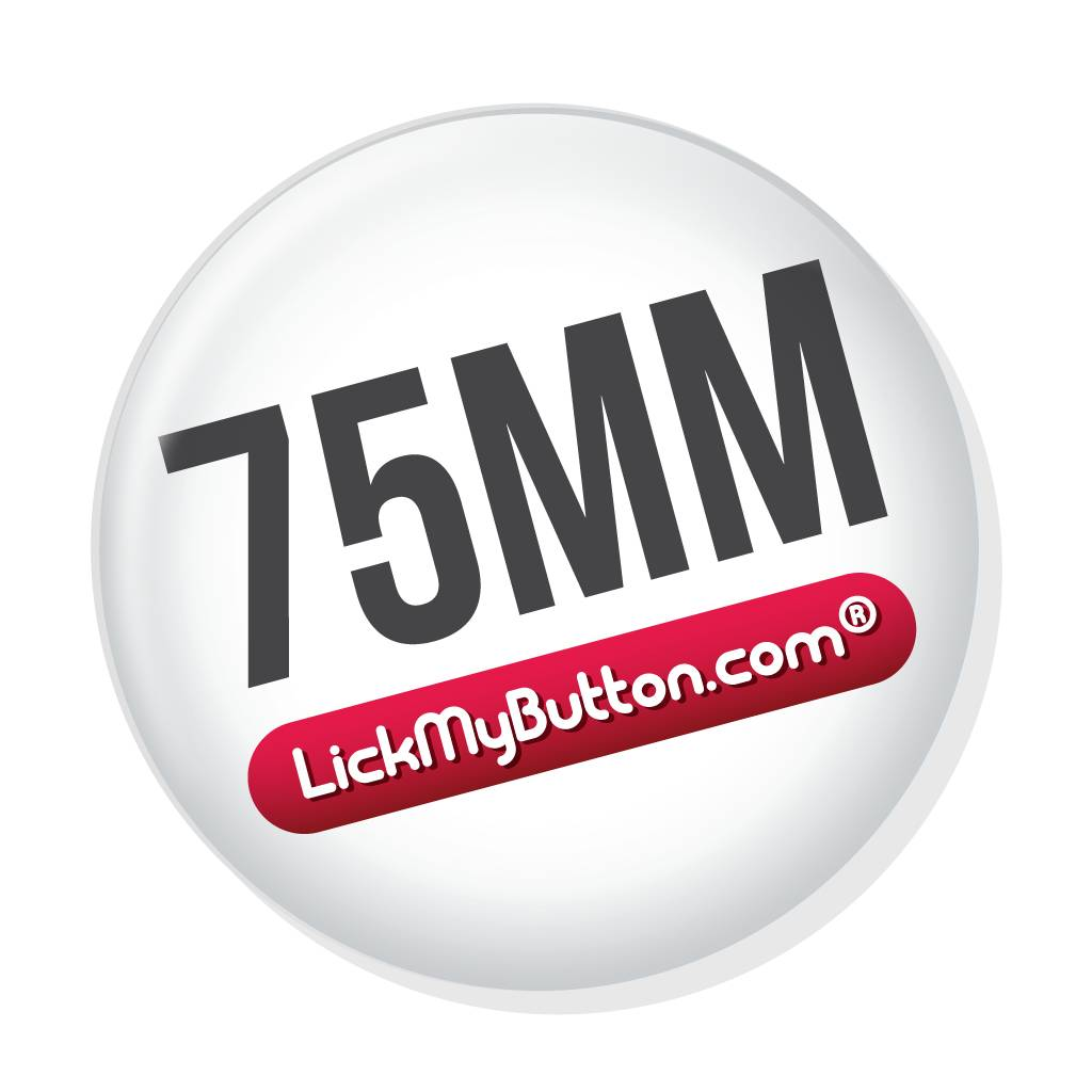 75mm round custom buttons - Metal Flatback with Clothing Magnet